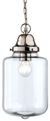 Firstlight 2348CH Clear Glass with Chrome Craft Pendant